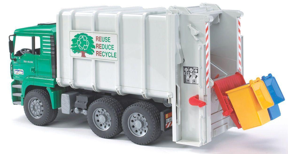Bruder Man Tga Rear Loading Garbage Kids Toy Truck Garbage Truck Toy Trucks Trucks