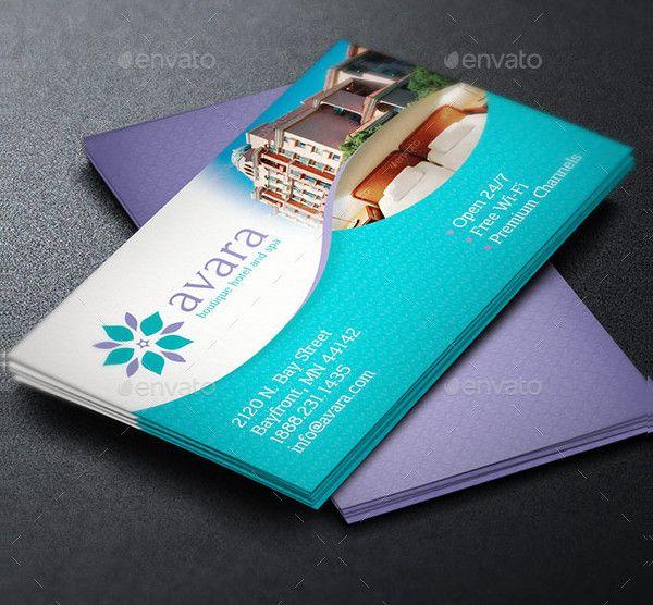 Carte De Visite Elegant Hotel Business Card Template Free Templates Cards