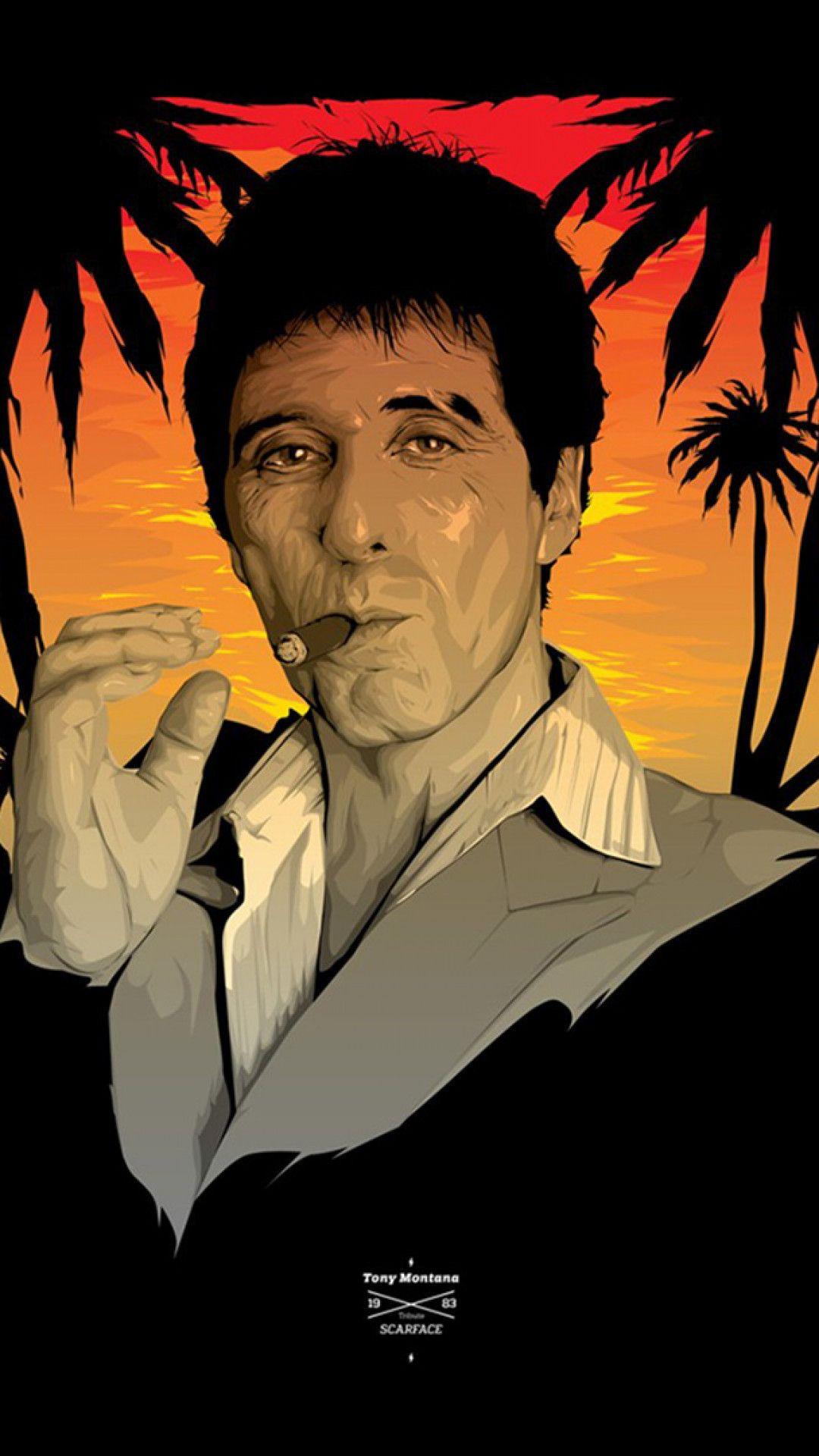 Tony Montana Wallpaper Tony Montana Scarface Gangster Movies