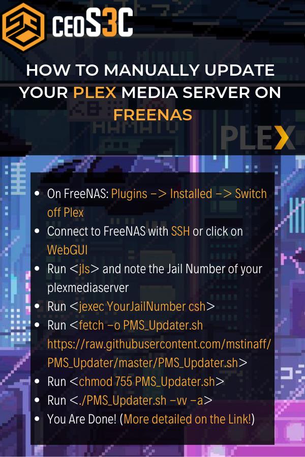 Manually update your Plex Media Server on Freenas | FreeNAS