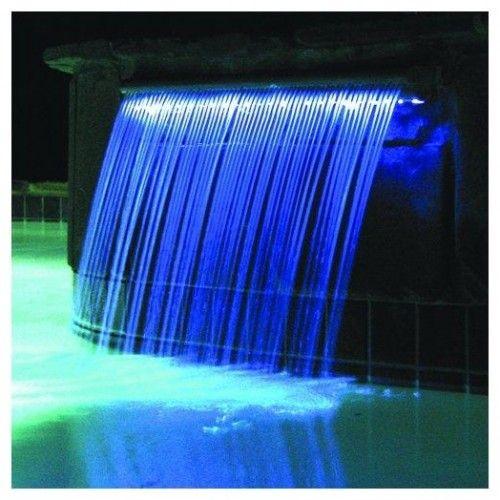 Sheer Descent Retaining Wall W Waterfall Koi Pond