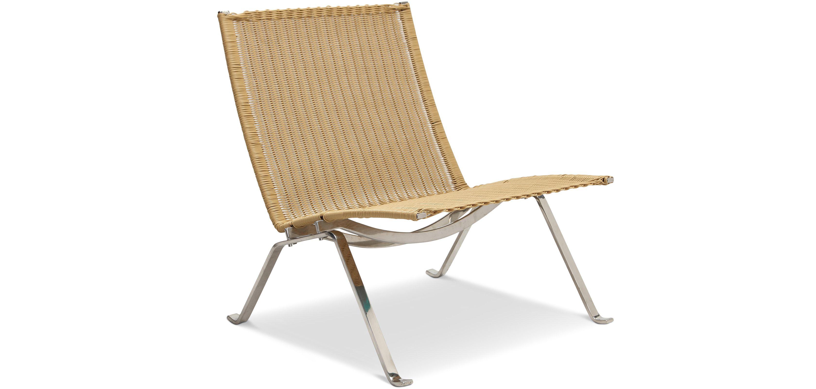 Chaise Longue Pk22 Style Poul Kjaerholm Rotin Outdoor Chairs Chaise Longue Outdoor Furniture
