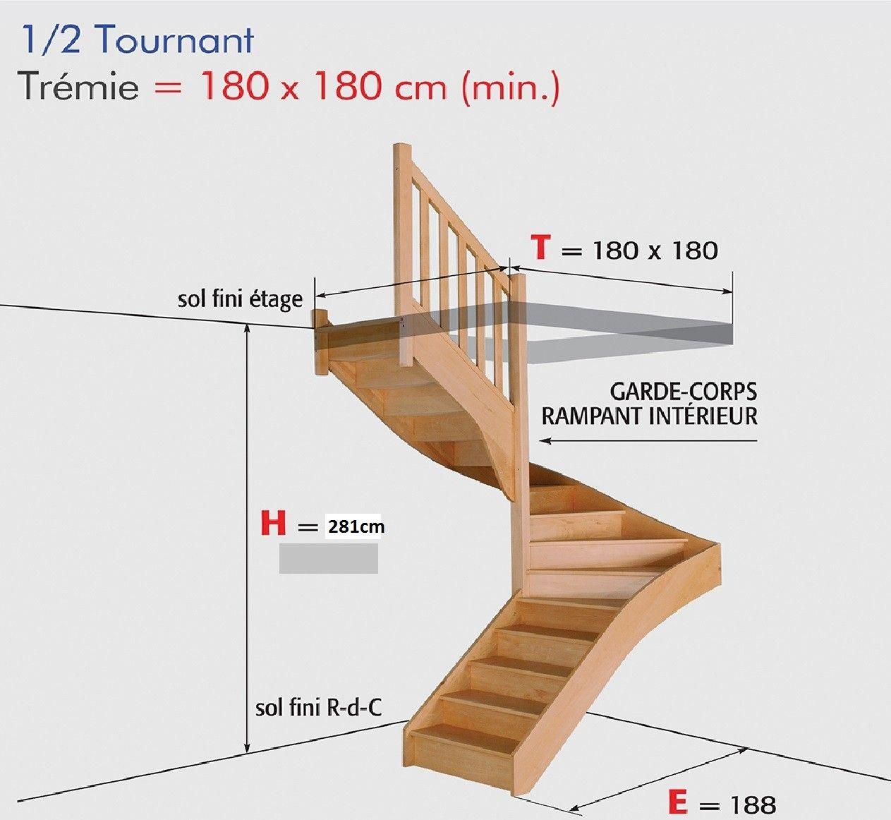 100 Remarquable Conseils Dessiner Un Escalier 1 4 Tournant
