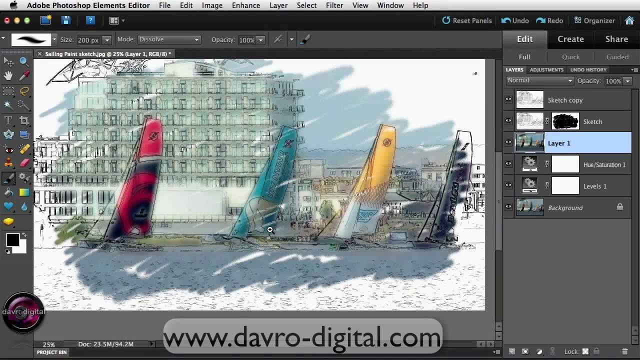 Difference between photoshop elements and lightroom