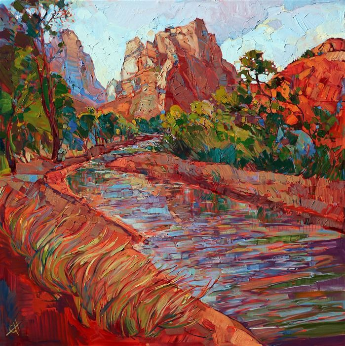 Utah In Color Contemporary Impressionism Landscape Oil