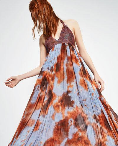 Zara Tie Dye Maxi Dress September 2017