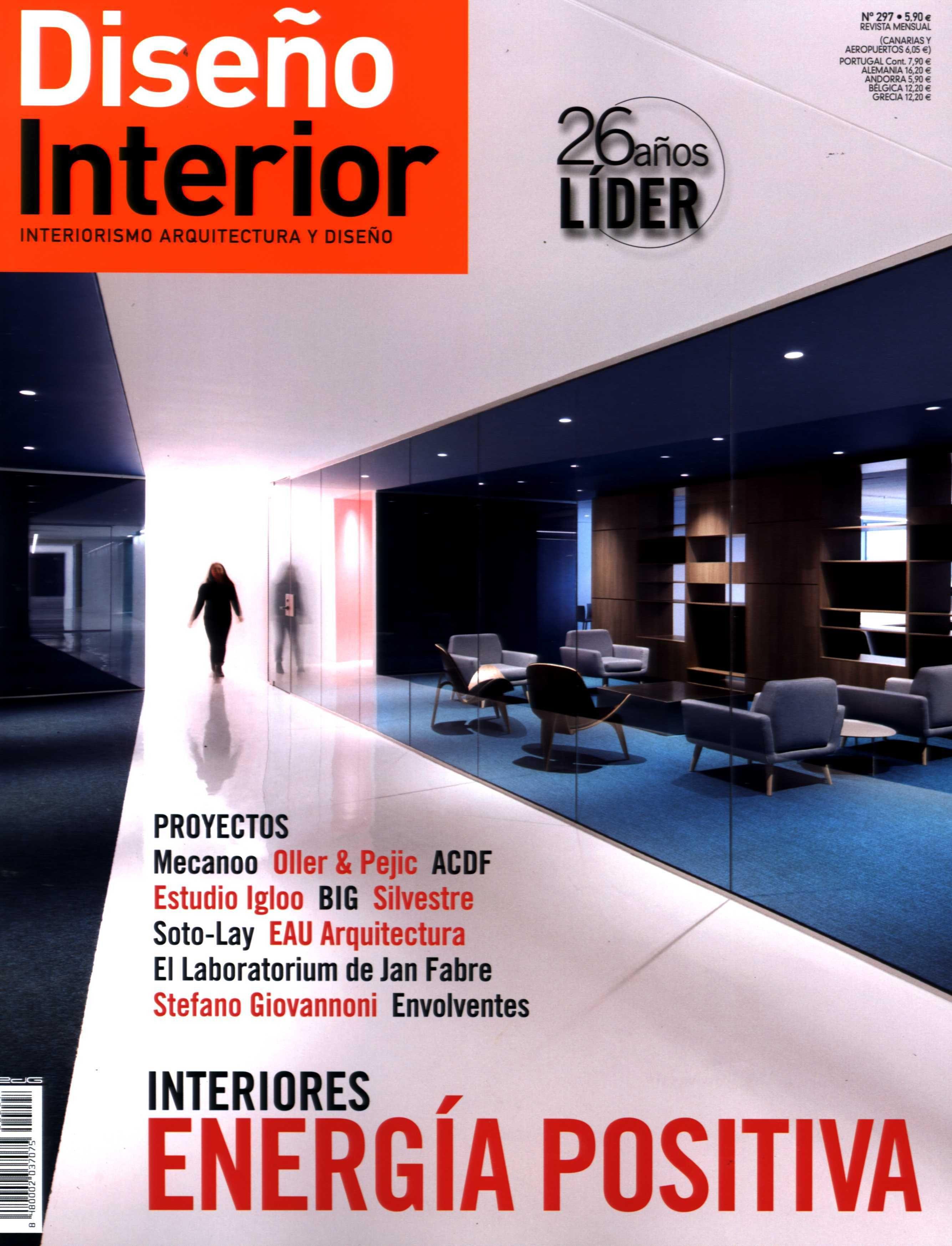 Resultado de imagen de revista diseño interior 297