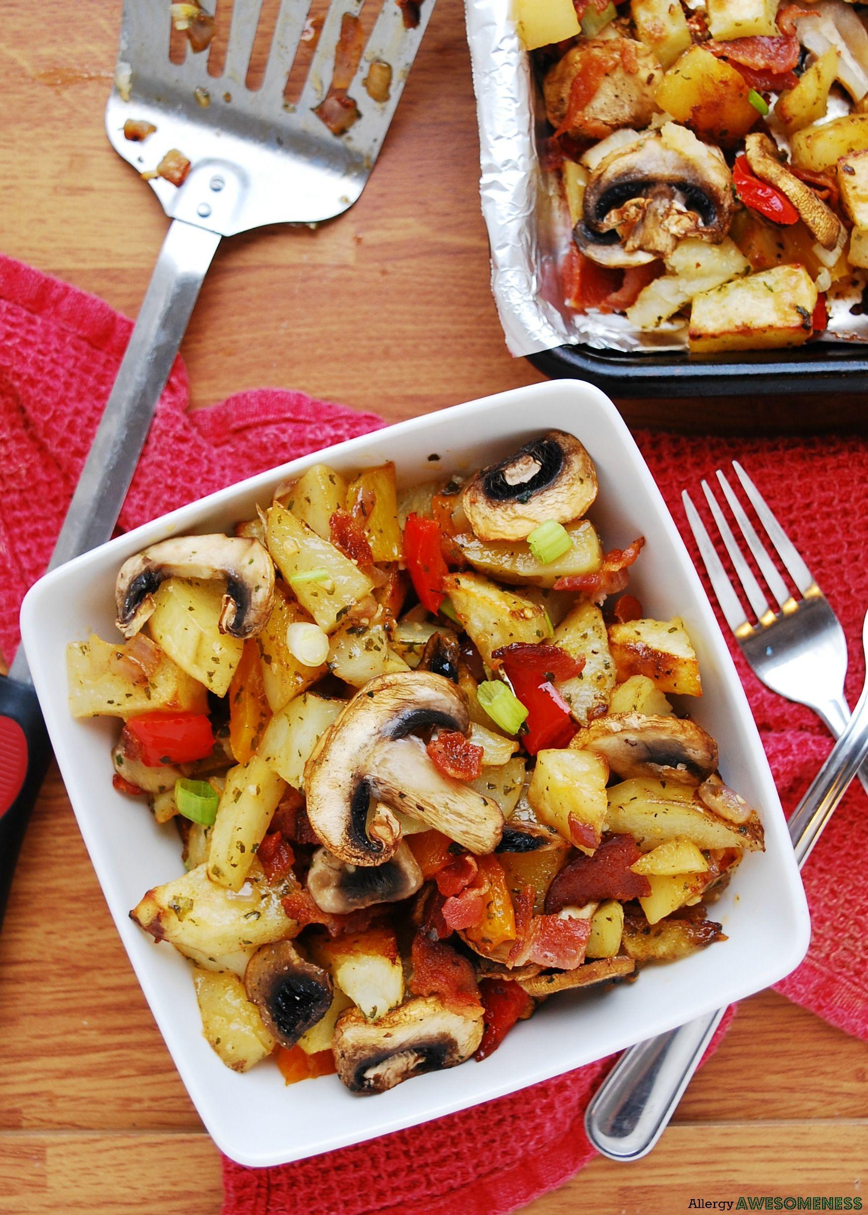 Dairy glutenfree breakfast bacon potatoes recipe