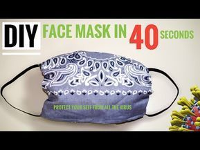 Photo of 🔴Instant / DIY FACE MASK in 40 seconds / No Sewing Machine / No manual Sewing – Masque
