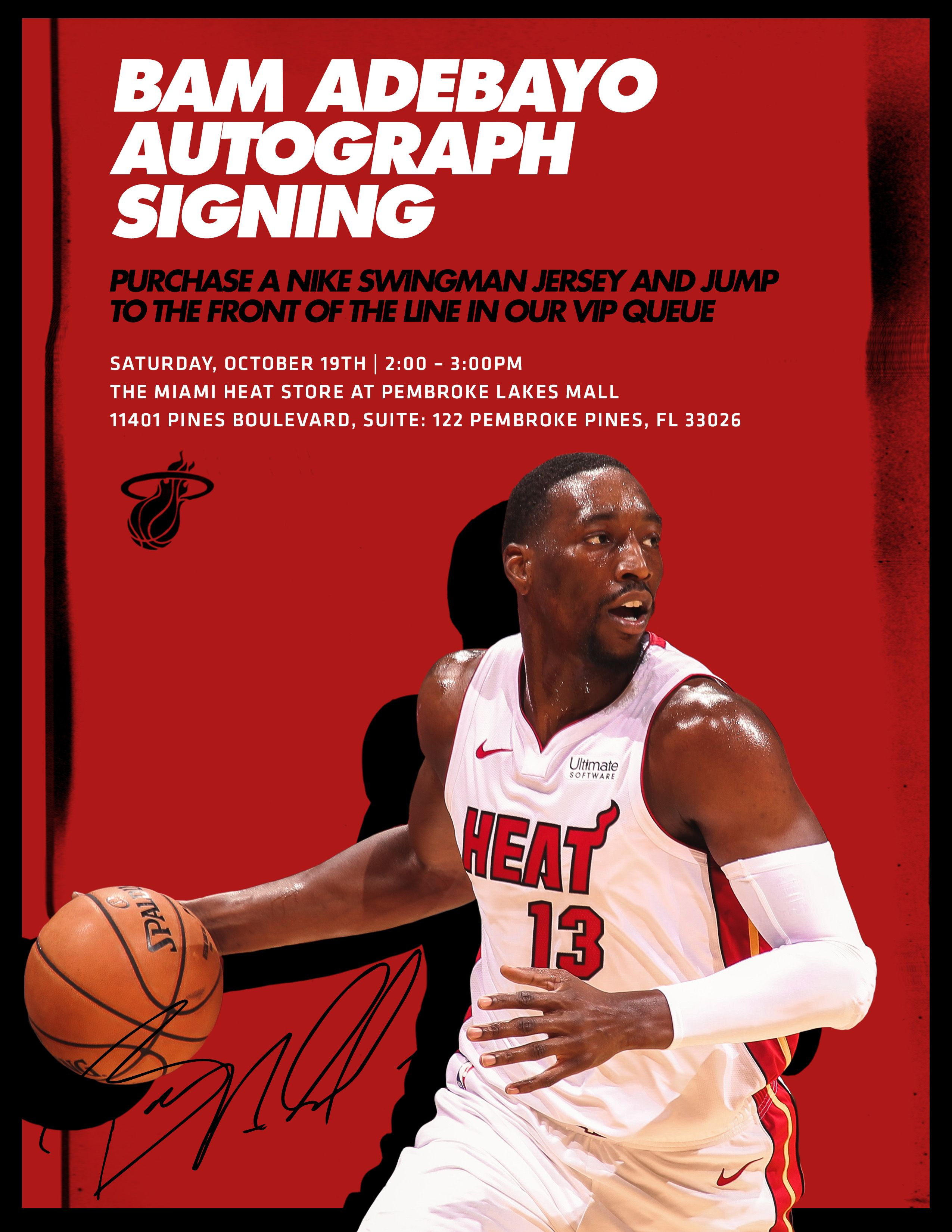 Bam Adebayo Will Be At The Miami Heat Store At Miami Heat In 2020 Miami Heat Miami Michael Jordan Chicago Bulls