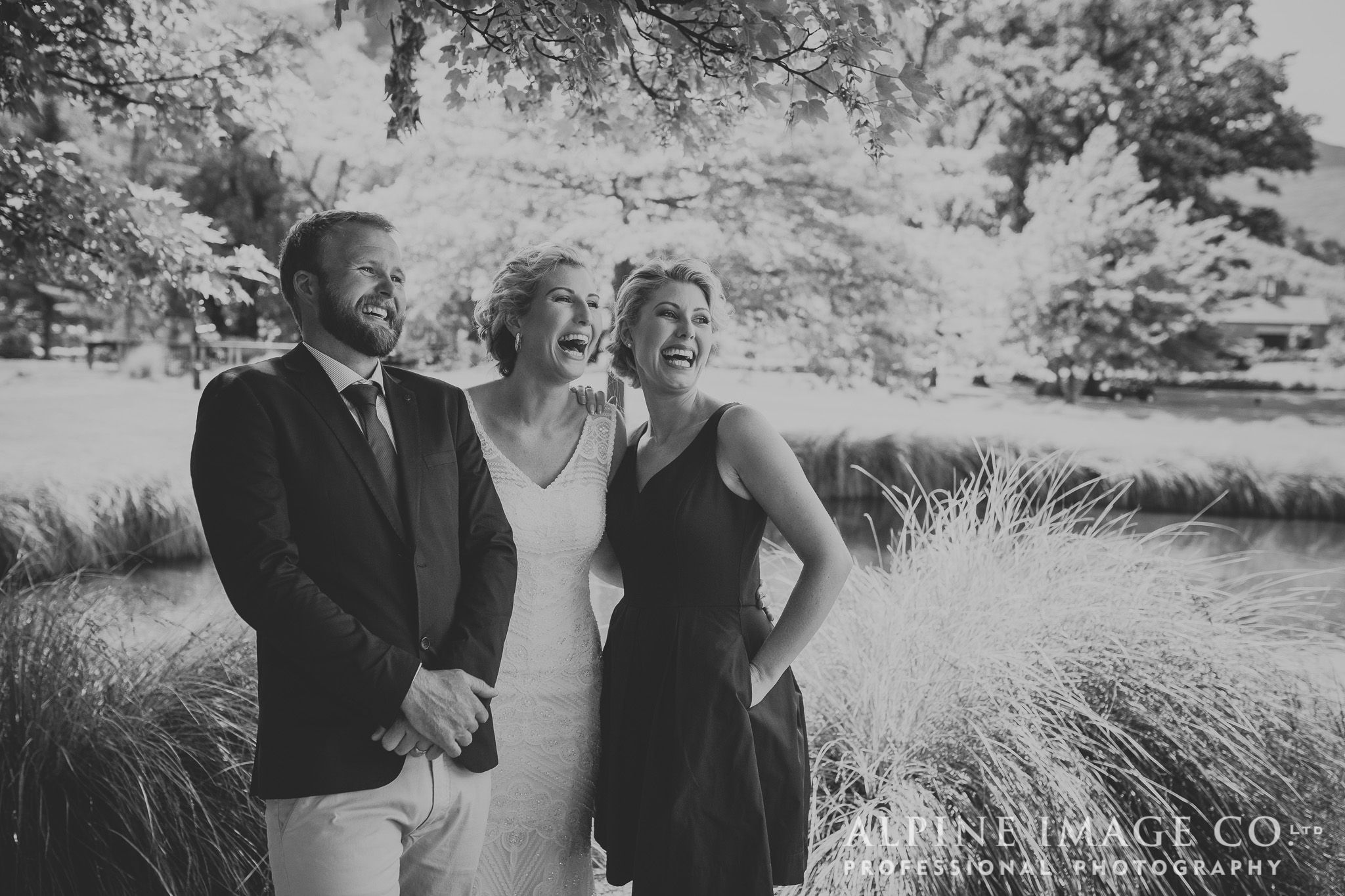 Beautiful candid moments during a wedding ceremony. New Zealand Wedding Photography by Alpine Image Company