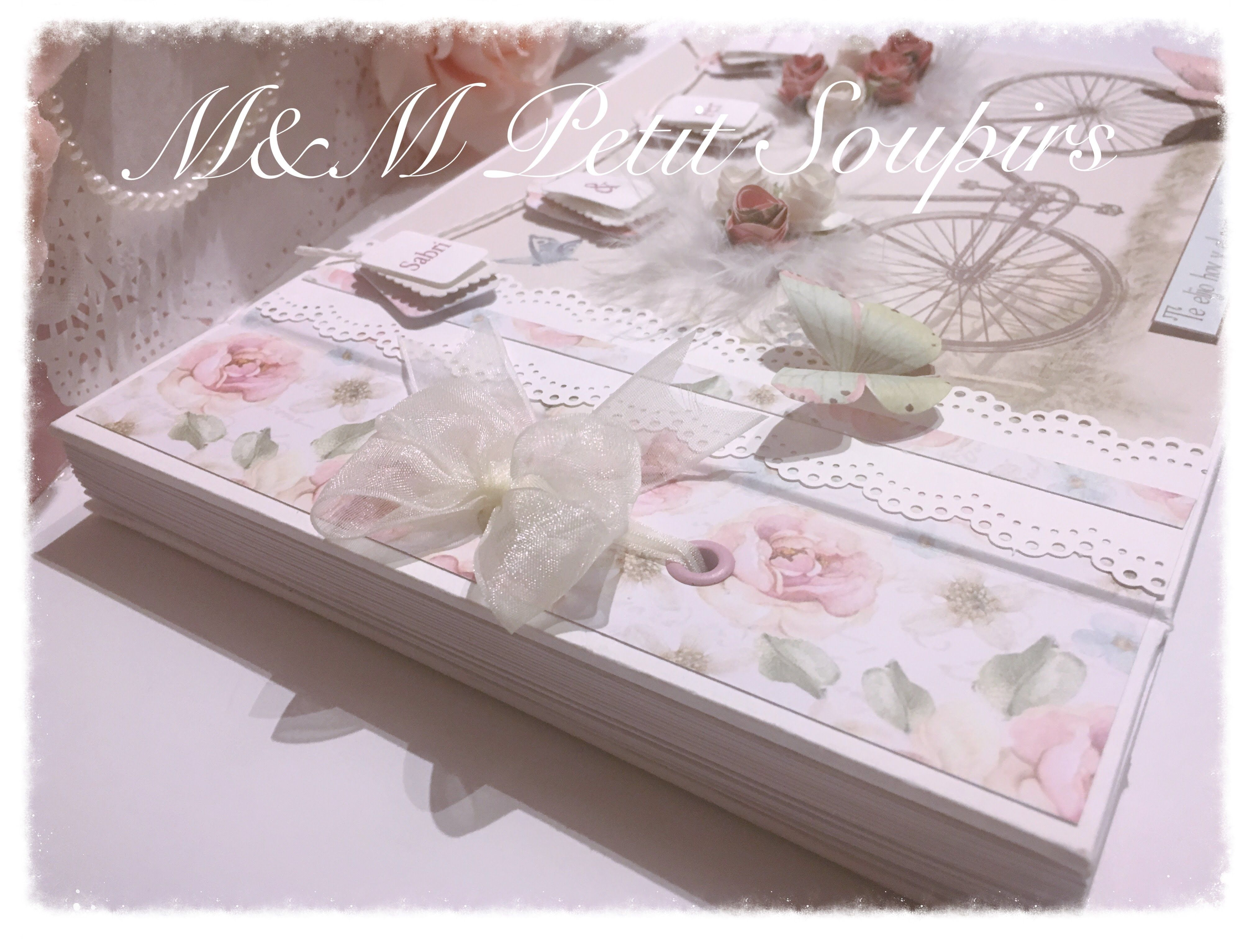 Scrapbook ideas using ribbon - Wedding Guest Book With Ribbon Binding Diy Tutorial Scrap Scrapbook Scrapbooking For All My Scraperas Princesses Step By Step