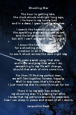 Poem: Shooting Star by Jacqueline Nash   Child Of The Moon ...