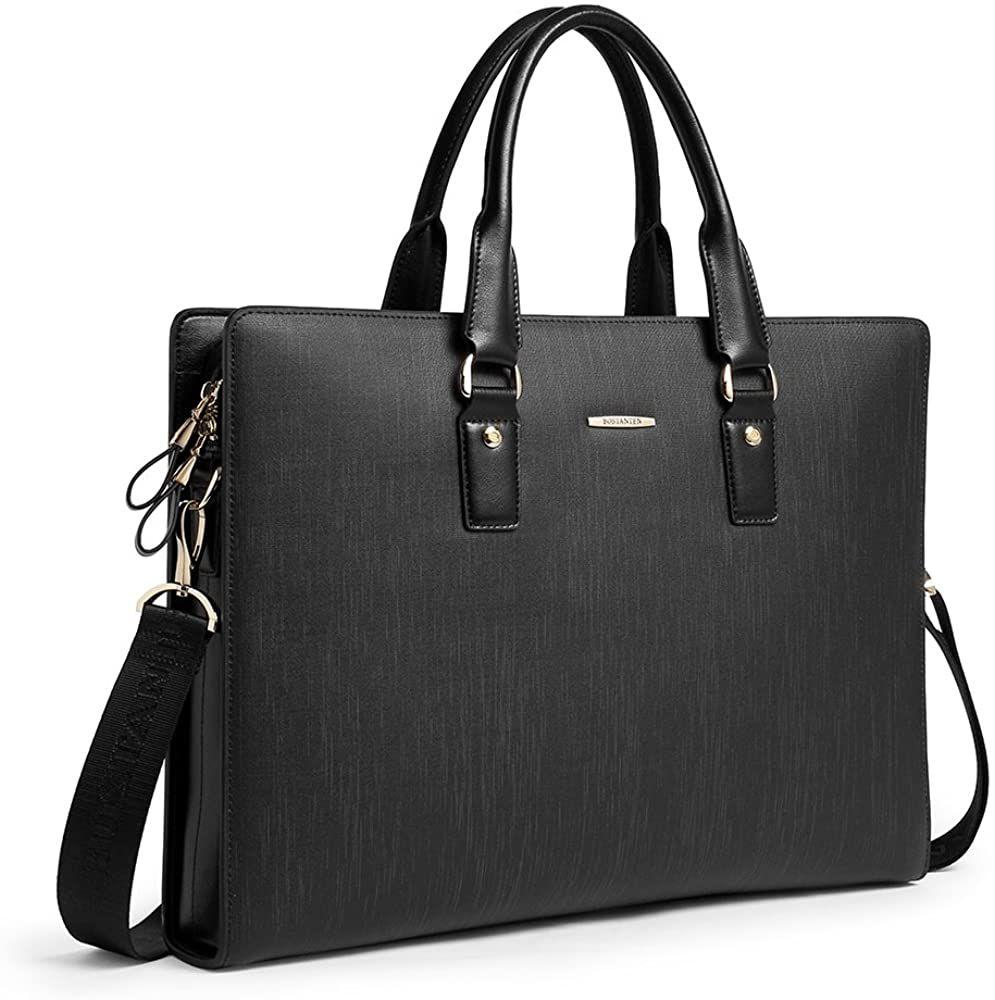 Bostanten leather lawyers briefcase shoulder