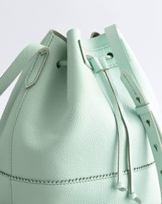 J.Crew women's Downing bucket bag. To preorder call 800 261 7422 or email verypersonalstylist@jcrew.com.
