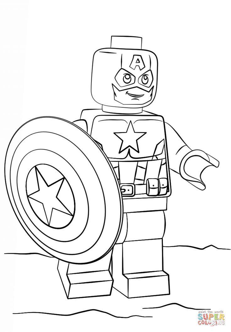 lego captain america  ausmalbilder lego superhelden