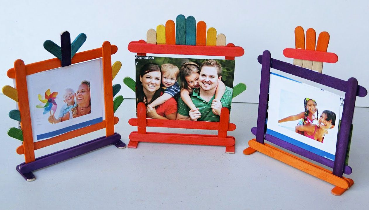 6 Simplest Yet Adorable Diy Photo Frame Ideas Craft Stick Crafts