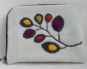 Simple Branch - iPad Case - Wool with Needle Felted Leaves by cstreetstudio