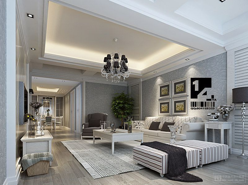 Image Detail For  White Luxury Chinese Living Room Design By 14 YA | | Home  Designs And .
