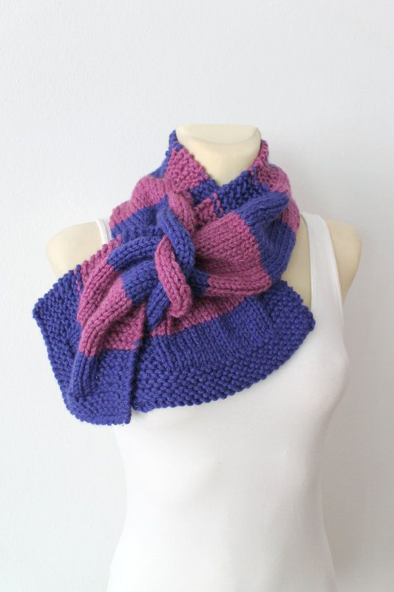 Photo of Knit infinity scarf Pink scarf Knitted Snood Multi color knit scarf Winter scarves for women Snood femme Mothers Day Gift from daughter