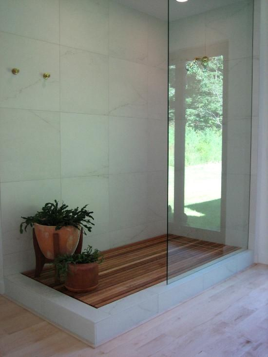 Floors · Wood Shower ... - Wood Shower Sycamore Tile Works Bathrooms Pinterest Tile