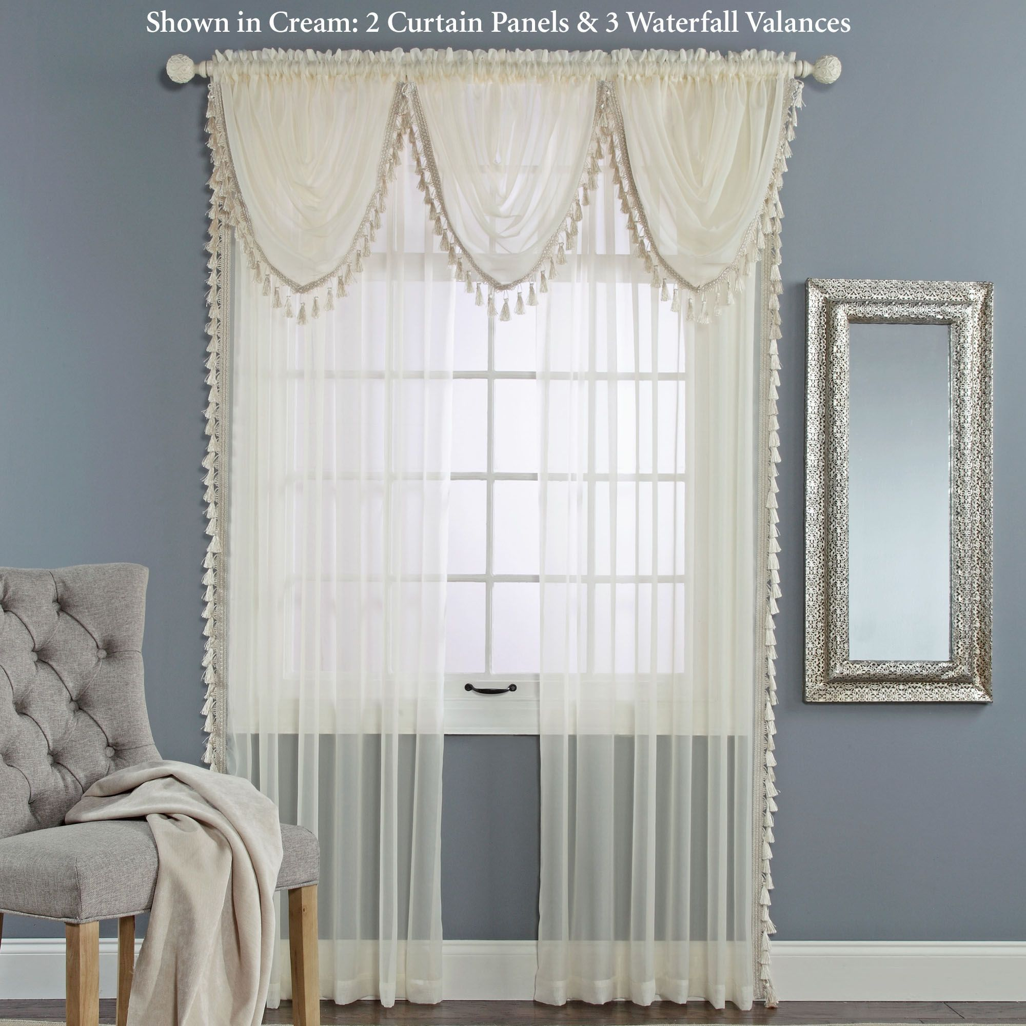 Charlotte Sheer Voile Window Treatment
