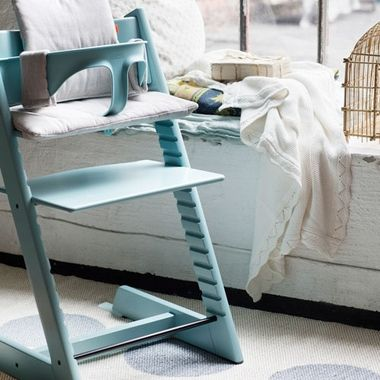 stokke tripp trapp high chair in aqua blue. Black Bedroom Furniture Sets. Home Design Ideas