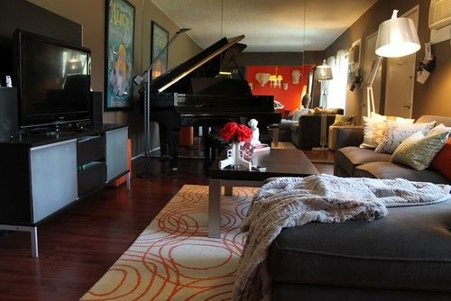 Grand Piano In Small Apartment