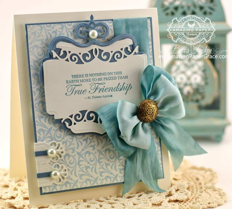 Friendship Card Making Ideas Part - 29: Friendship Card Making Ideas By Becca Feeken Using JustRite Twisted Fleur  And Spellbinders Labels Thirty Seven