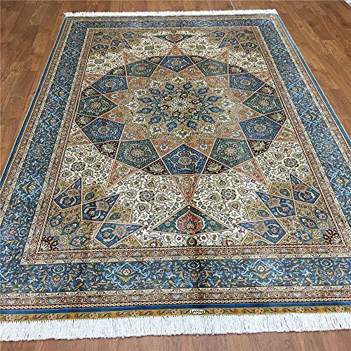 Camel Carpet Gombad Design Hand Made Blue Silk Custom Area Rugs 6 X9 Http