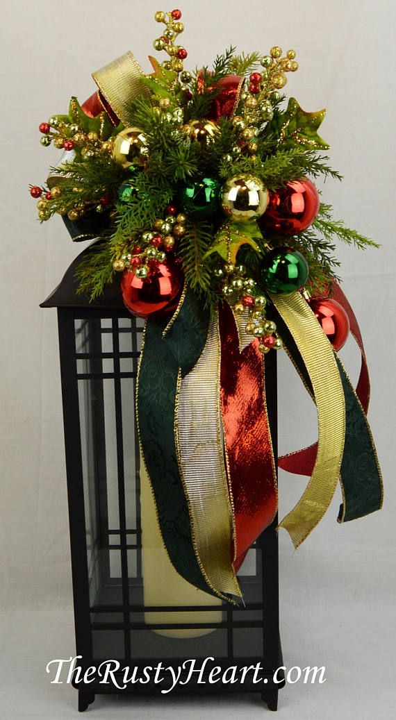 christmas lantern swag christmas swag mantel swag christmas decoration christmas lantern decoration lantern topper holiday swag holiday lantern swag - Christmas Swag Decorations