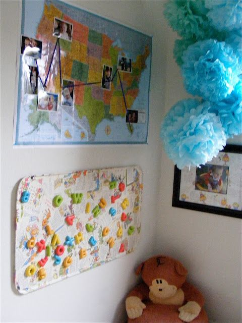 a more practical and cheaper magnet board idea also like the