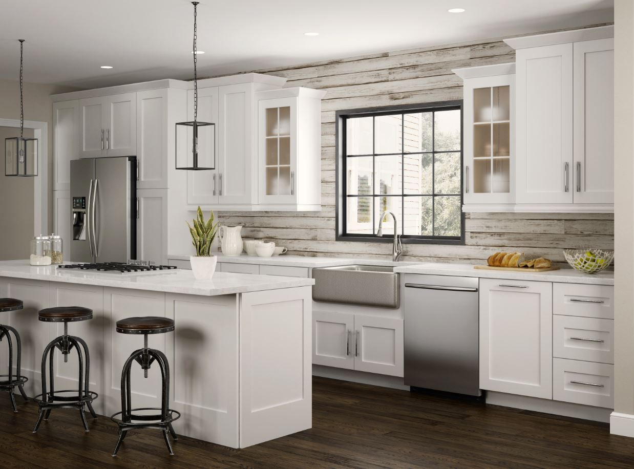 15 Ideas To Decorate The White Cabinets For Your Kitchen In 2020 Home Depot Kitchen Kitchen Cabinets Home Depot White Kitchen Design