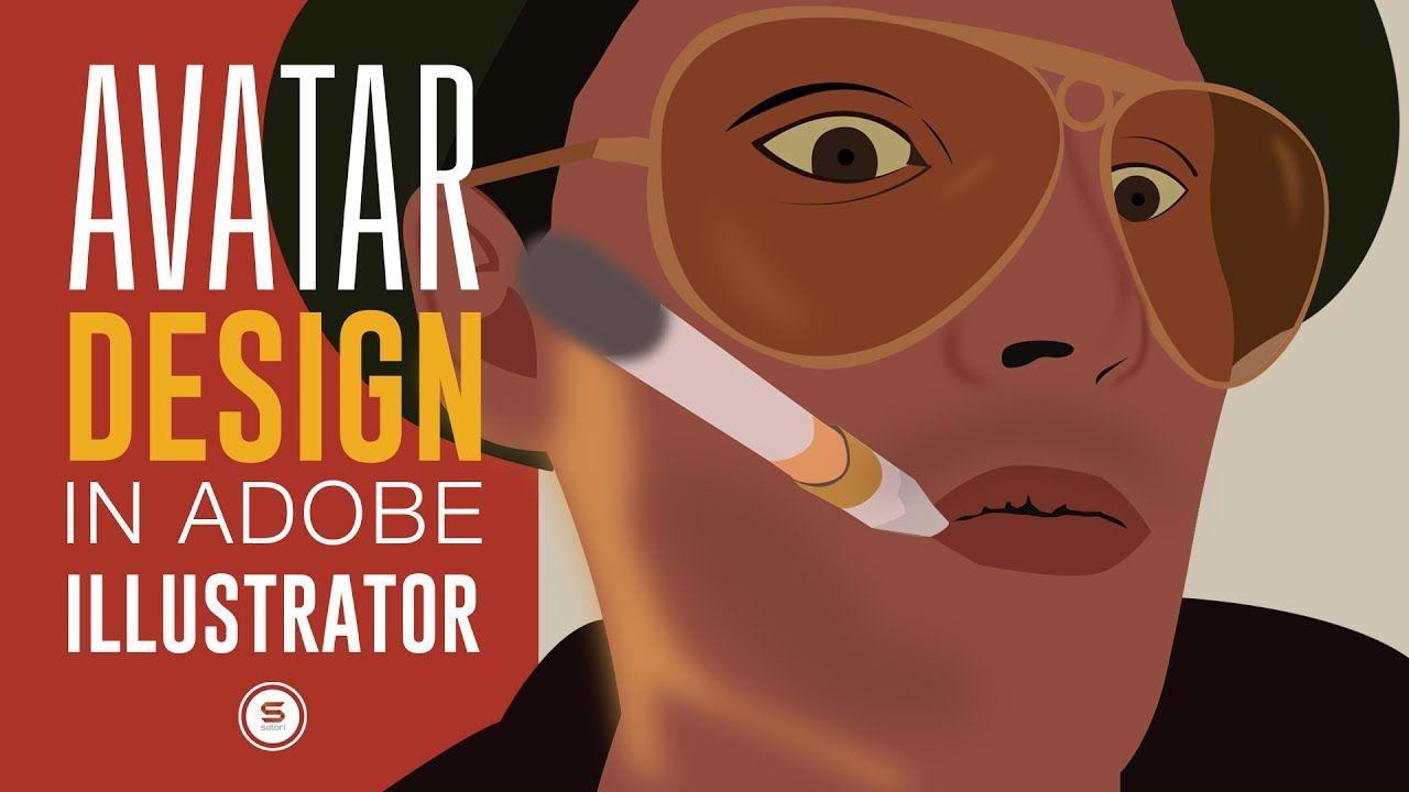 how to make a custom avatar in illustrator graphic design