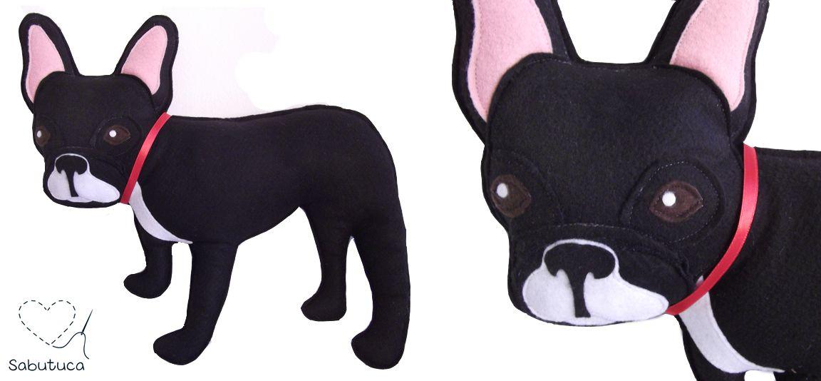 Sabutuca ♥: criações: cadelinha de viagem / bulldog pillow