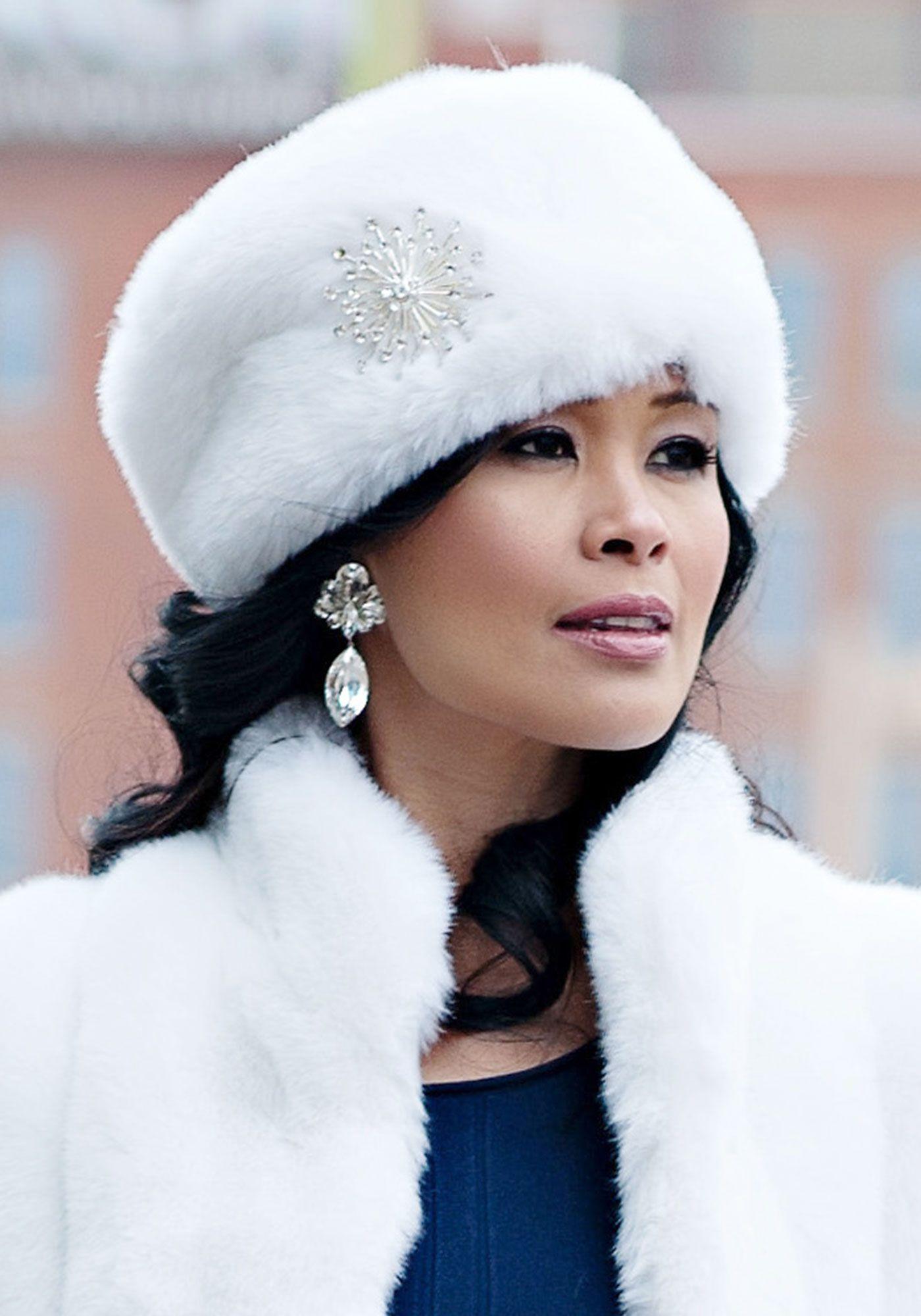 2465ec51bff White Mink Russian Faux Fur Hat