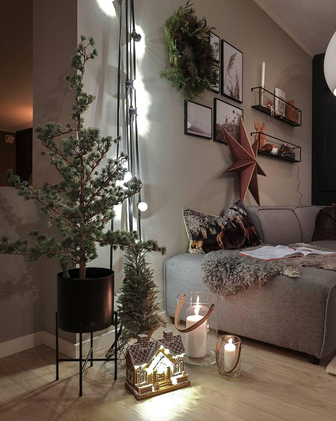 "Interiør, garden & fashion on Instagram: ""Last year x-mas ❄🎄 . . . #jultre #julestjerne #multitrend #scandinaviandesign #julestjerne #scandinavianinterior #roomforinspo…"""