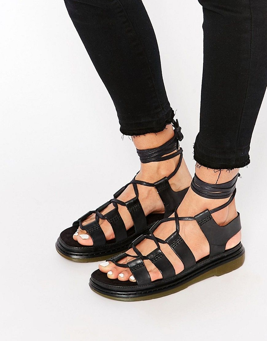Dr Martens Kristina Ghillie Lace Up Flat Sandals at asoscom