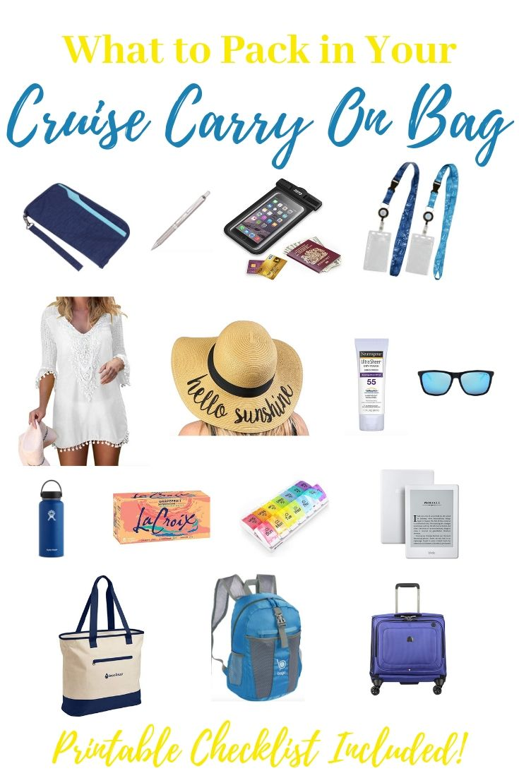 What to Pack in Your Cruise Carry on Bag for Embarkation Day #summercruiseoutfits