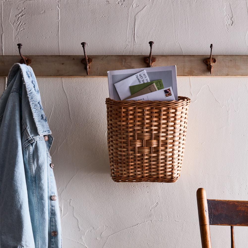 Hanging Rattan Book Basket Hanging Rattan Book Baskets Baskets