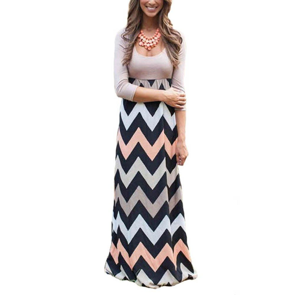 Women Maternity Clothes Onechic Maternity High Waist 3 4 Sleeve Vintage Casual Loose Long Maxi Dress Xxl Boho Maxi Dress Maxi Dress Summer Dresses For Women [ 1001 x 1001 Pixel ]