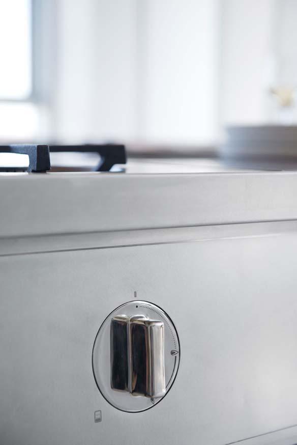 Küche Abimis prisma italien edelstahl arbeitsplatte herd schalter ...