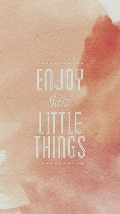 Coral Enjoy Little Things Watercolour Iphone Wallpaper Phone Background Lockscreen