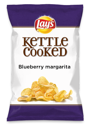 Wouldn't Blueberry margarita be yummy as a chip? Lay's Do Us A Flavor is back, and the search is on for the yummiest flavor idea. Create a flavor, choose a chip and you could win $1 million! https://www.dousaflavor.com See Rules.