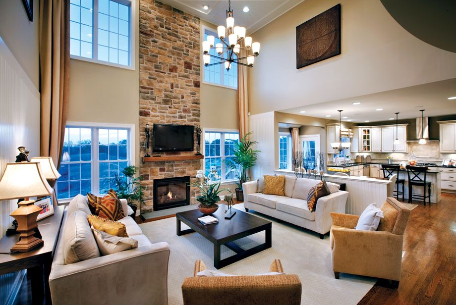 2 Story Family Room Decorating Ideas Part - 29: K. Hovnanian Model Homes Interiors | ... Living And Lifestyle Model  Exterior Airy, Open 2 Story Great Room | 2 Story Family Room | Pinterest |  Exterior, ...