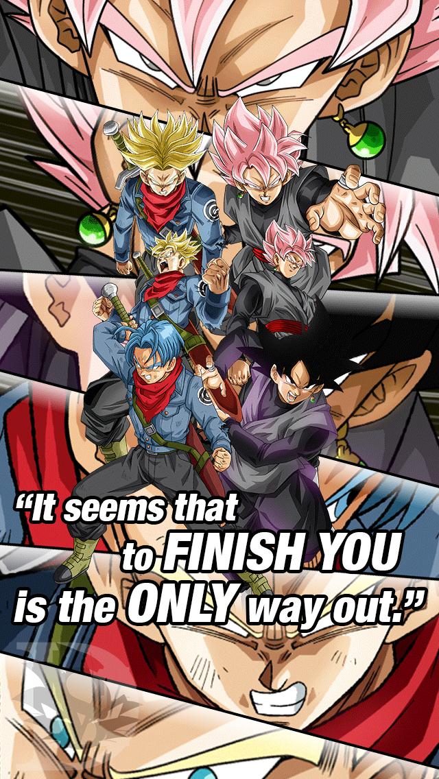 Dokkan Battle Wallpaper 5 Trunks Vs Black Goku By