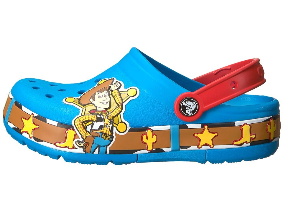 e5b5fef11928 Crocs Kids Crocband Fun Lab Woody Lights Clog (Toddler Little Kid) Kids  Shoes Ocean