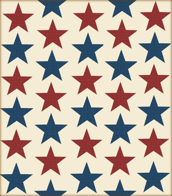 Stars-N-Stripes July 4th Decorations Scrapbook, Digital and Board