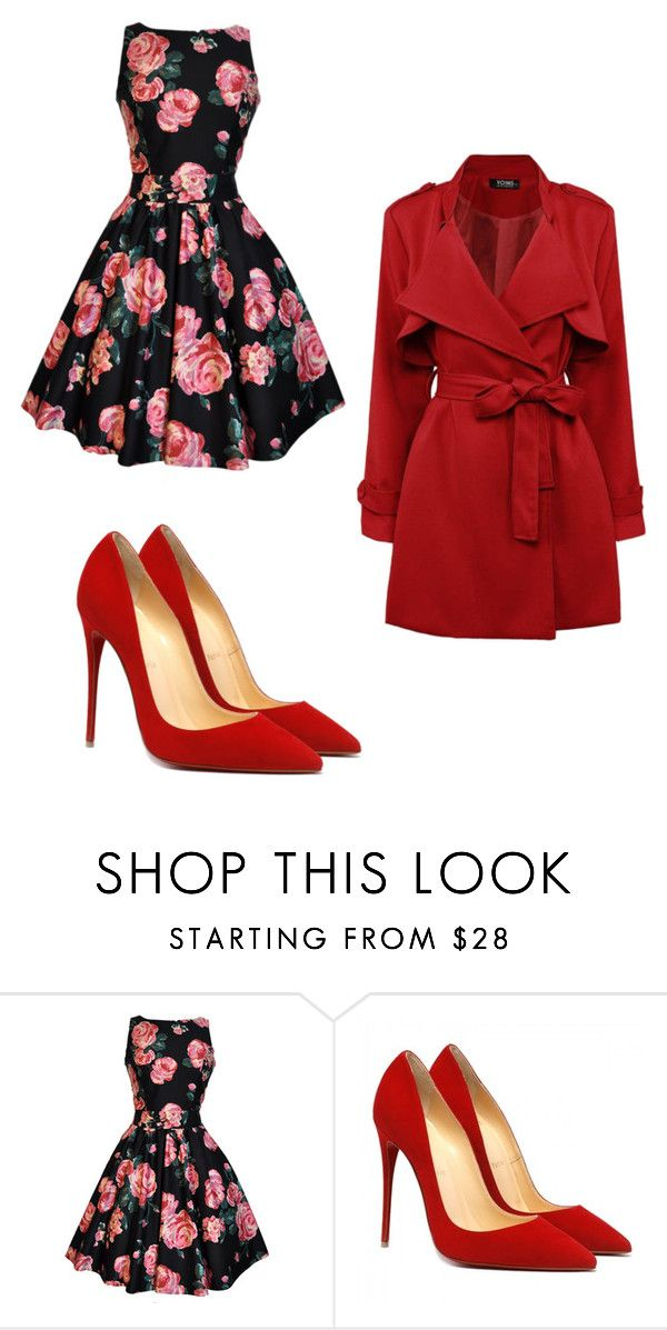 """""""red...flowers ...love love"""" by alma-mesic on Polyvore featuring women's clothing, women's fashion, women, female, woman, misses and juniors"""
