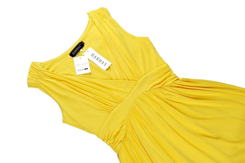 HARHAYWomen's Sleeveless V-neck Summer Sun Dress